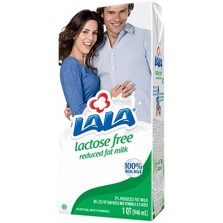 (3 Pack) LALA Ultra-Pasteurized Lactose Free Reduced Fat Milk, 32 fl