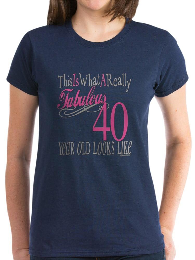 0bec4737f14 CafePress - 40Th Birthday Gifts Women s Dark T Shirt - Women s Dark T-Shirt  - Walmart.com