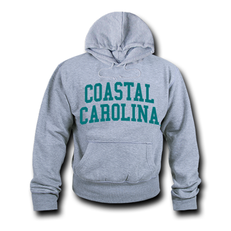 Ncaa Mens Hoodie - NCAA Coastal Carolina University Hoodie Sweatshirt Game Day Fleece Heather Grey Large