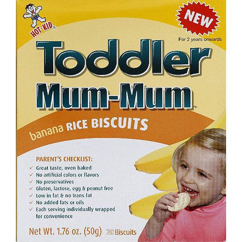 Toddler Mum-Mum Banana Rice Biscuits, 1.76 oz, (Pack of 6)