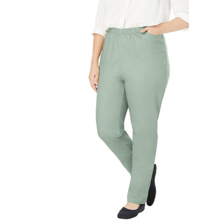 Woman Within Plus Size Petite Straight Leg Fineline Jean
