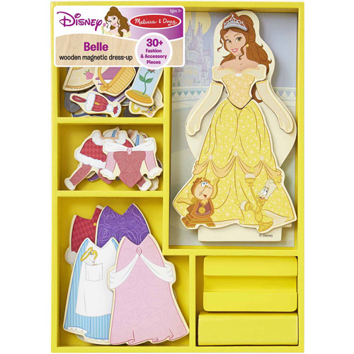 Disney Belle Wooden Magnetic Dress Up Walmart Com