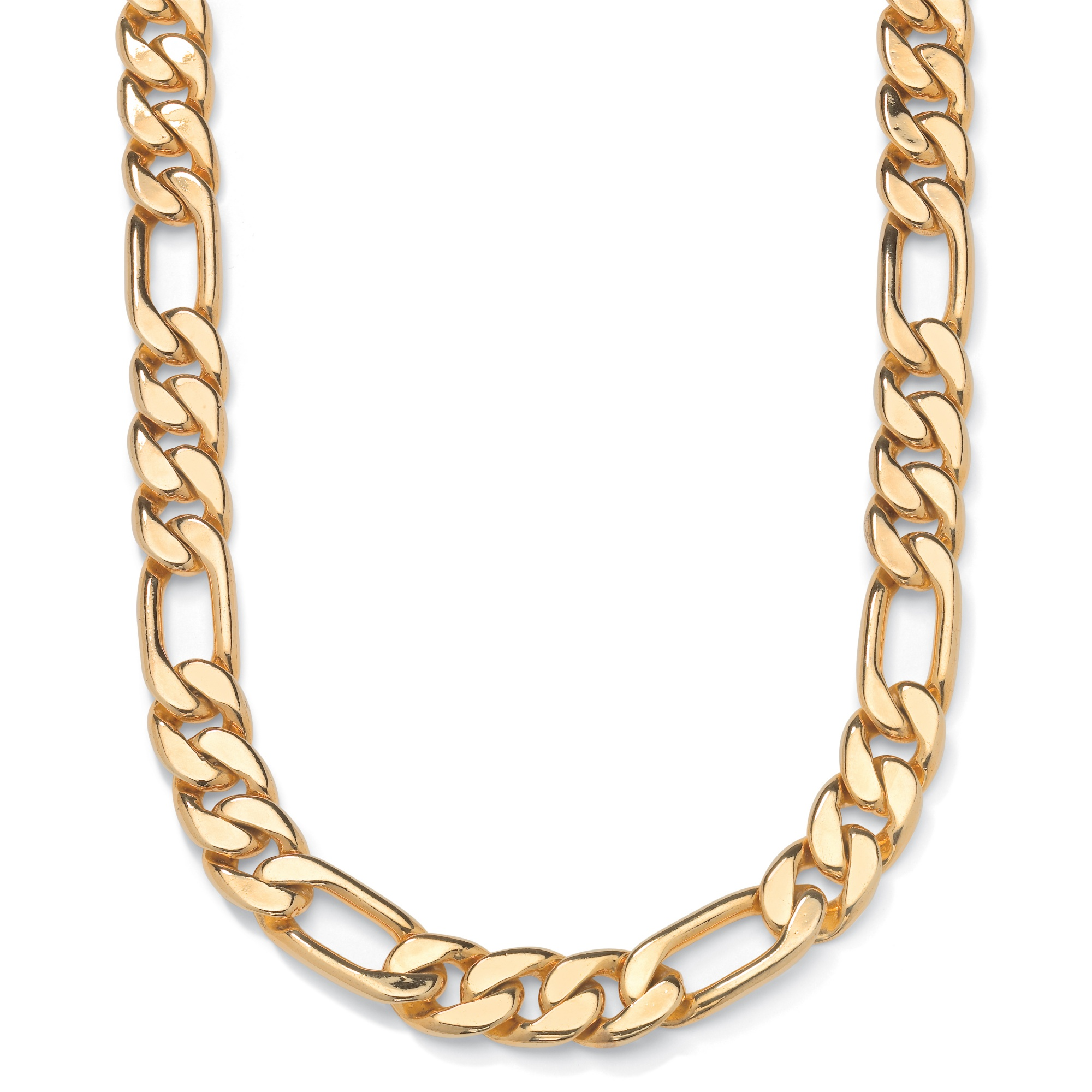Figaro-Link Necklace in Yellow Gold Tone 24""