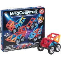 Cra-Z-Art MagCreator? Magnetic 7-in-1 Vehicle Toy Set 26 Pieces