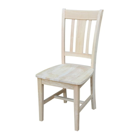 International Concepts San Remo Slat Back Chair - 2 Chairs