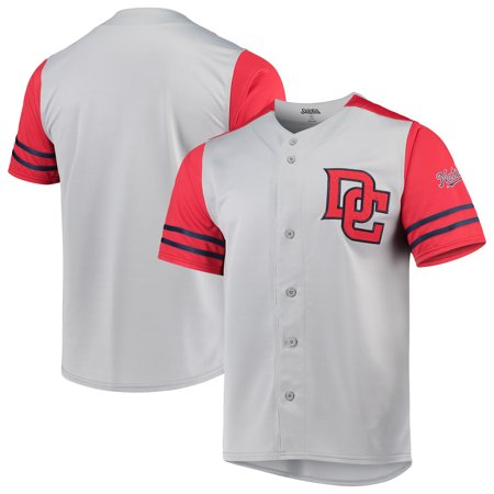 pretty nice fd4c1 05aa7 Washington Nationals Stitches Button-Up Jersey - Gray/Red