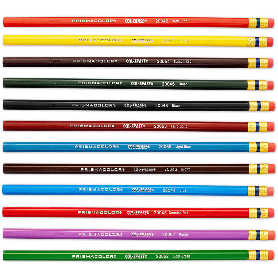 Prismacolor Col-Erase Colored Woodcase Pencils with Eraser