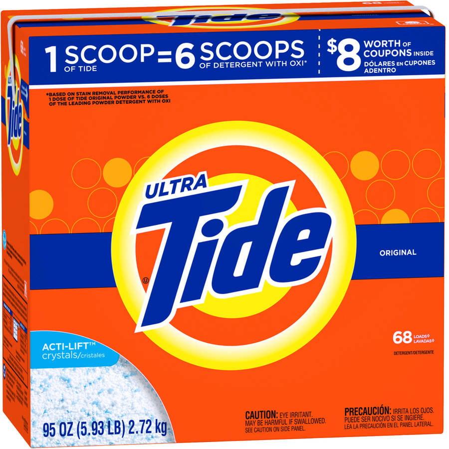 Tide Ultra Original Scent Powder Laundry Detergent, 68 Loads, 95 oz