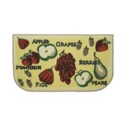 Structures Tossed Fruits Printed Textured Loop Kitchen Accent Rug