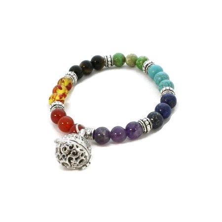 Full Circle 7 Chakra Essential Oil Diffuser Bracelet- Multicolored