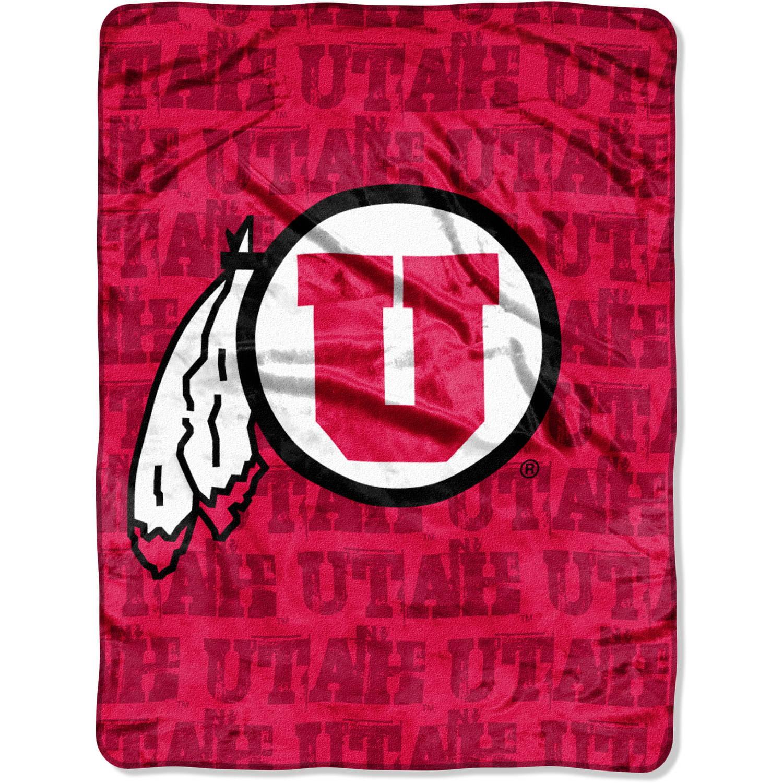 "NCAA Utah Utes 46"" x 60"" Micro Raschel Throw, 1 Each"