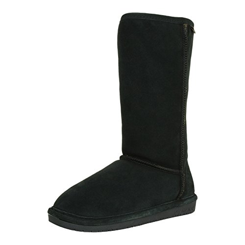 Bearpaw Emma 12 Inch - Solid Black 8 Emma Womens Tall 12 Inch