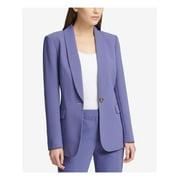 DKNY Womens Blue One Button Blazer Jacket  Size: 14