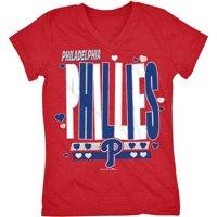 MLB Philadelphia Phillies Girls Short Sleeve Team Color Graphic Tee