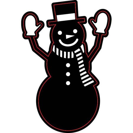 Die Cut Emboss Stencil Snowman With Hat By