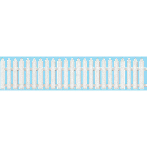 CottageCutz Border Die with Foam, 1 by 7-Inch, Picket Fence Multi-Colored