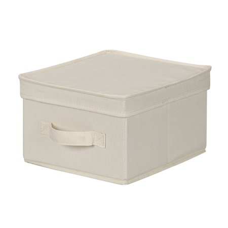 Household Essentials Medium Canvas Storage Box With Lid