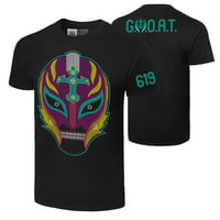 """Official WWE Authentic Rey Mysterio """"Booyaka 619""""  T-Shirt Black 2Xl"""