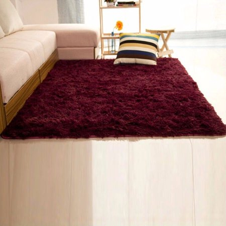 Rent A Red Carpet (NK Home Rugs 16x24'' Rectangle Oblong Shape Bedroom Fluffy Rugs Anti-Skid Shaggy Area Home Decration Office Sitting Drawing Room Gateway Door Carpet Play Mat Red , Small)