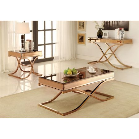 Furniture Of America Xander Contemporary 3 Piece Coffee Table Set In Br
