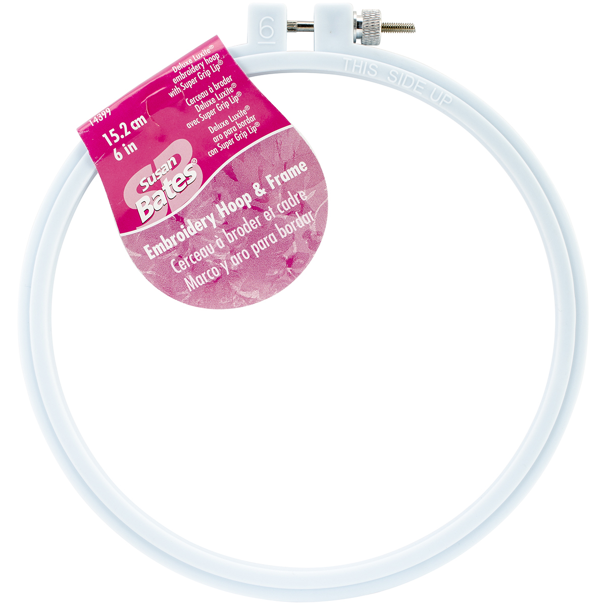 Bates Plastic Embroidery Hoop - Light Blue-Size 6""