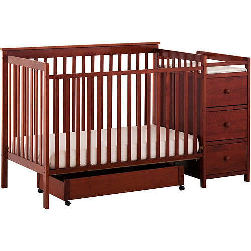 Storkcraft Madison 4in1 Crib and Changing Table Cognac Walmartcom