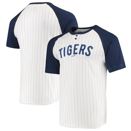 Pinstripe Mlb Jersey - Detroit Tigers Majestic Everything in Order Domestic Pinstripe T-Shirt - White