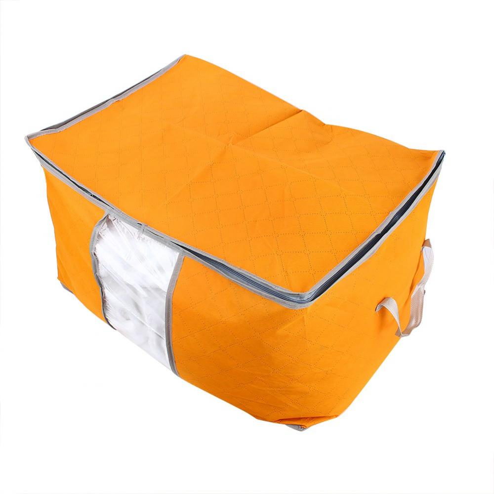 WALFRONT Foldable Clothing Organizer Clothing Storage Box For Clothes  Underbed Dustproof Bag Orange,clothing Storage