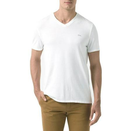 Lacoste Men's Vintage Sport Short Sleeve V-Neck Cotton T-Shirt