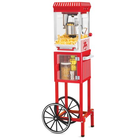 Nostalgia KPM200CART 45-Inch Tall Vintage Collection 2.5-Ounce 10-Cup Kettle Popcorn Cart ()