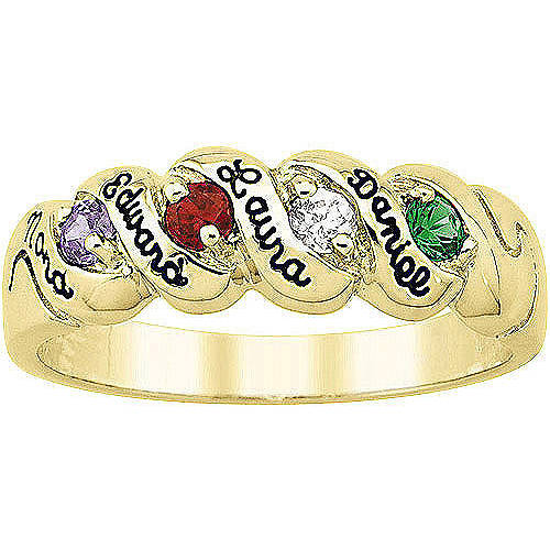 Keepsake Personalized Harmony Mother's Birthstone Ring