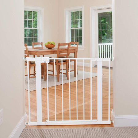 Safety 1st Adjustable Pressure Mounted Walk Through Gate Walmart Com