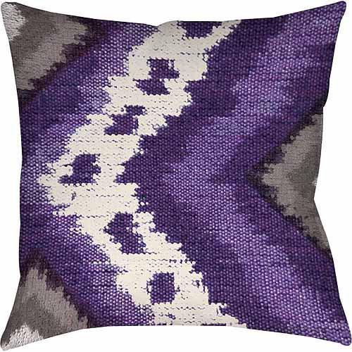 IDG Tribal Ikat Plum Indoor Pillow