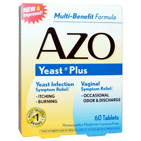 AZO Natural Yeast Prevention 60 Tablets, Homeopathic Yeast Infection