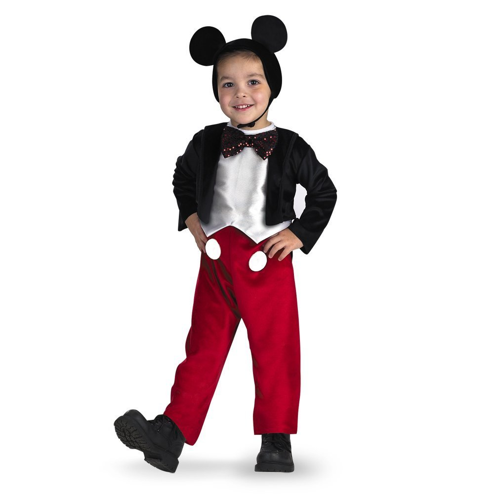 Disney Mickey Mouse Infant Baby Boys Zip-Up Hooded Costume Coverall