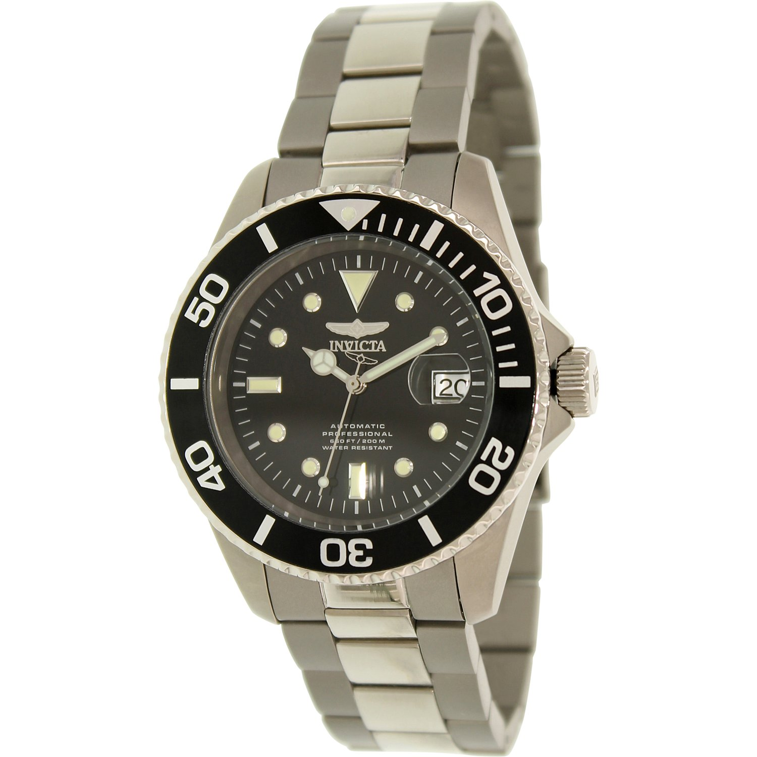 Invicta Men's Pro Diver Automatic Black Dial Stainless Steel