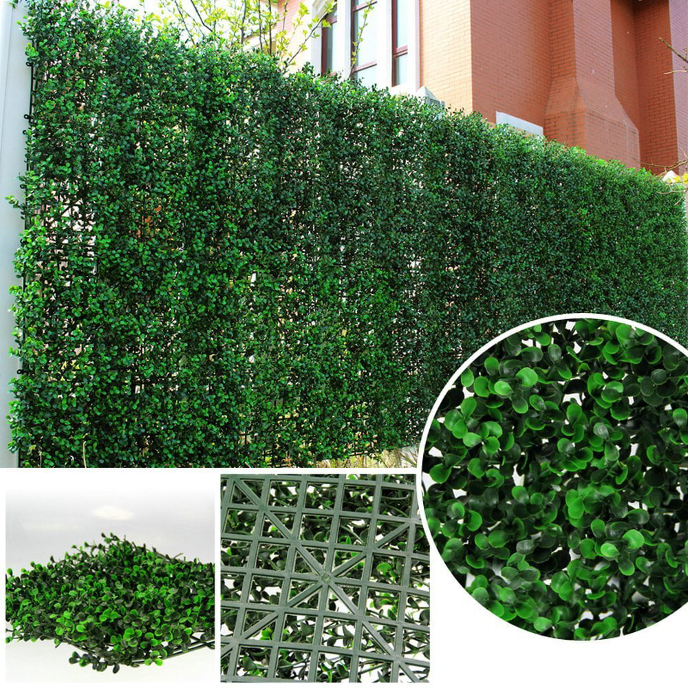 ULAND Greenery Artificial Boxwood Panel Privacy Fence Screen Outdoor Decor 20''x20''... by