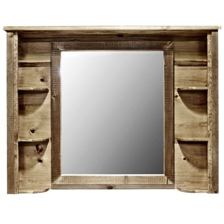 Homestead Collection Deluxe Dresser Mirror, Stain & Clear Lacquer Finish