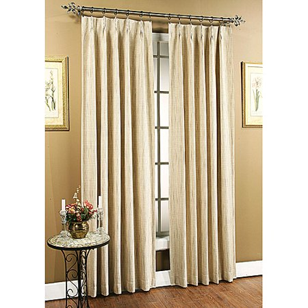 Tucson Pinch Pleated Drapery Panels Natural Set Of 2