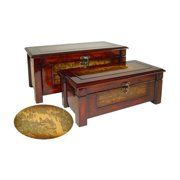 Cheung's FP-2657A-2 Wooden Decorative Boxes (Set of 2)