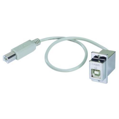 "83-17411 L-com12"" USB Type B Coupler, Female Bulkhead/Male, 12 in."