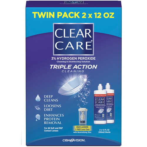 Clear Care No Rub Value Pack Solution, 2 pk