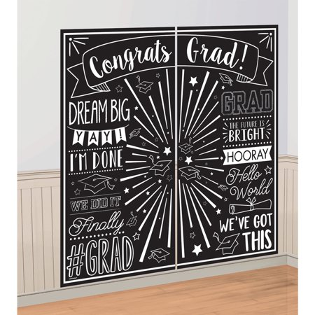Graduation Scene Setter Wall Decorating Kit (Jungle Scene Setter)