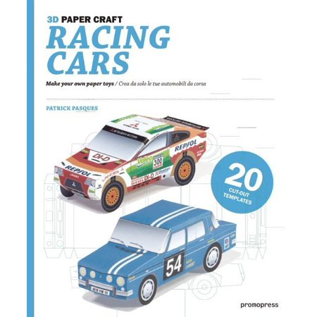 3D Paper Craft Racing Cars Make Your Own Toys Crea Da Solo Le