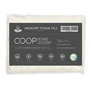 Coop Home Goods - Adjustable Shredded Memory Foam Pillow Firm Refill - Foam 1/2 LB