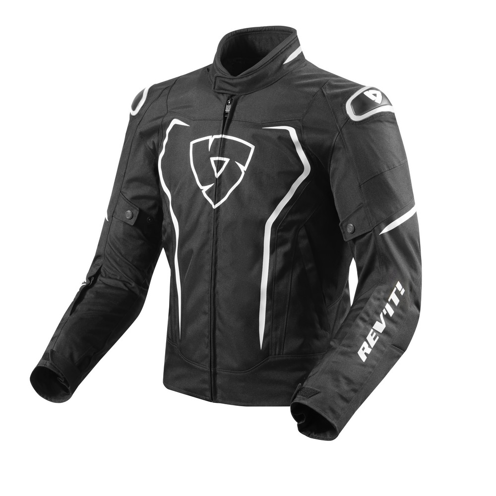 Rev'It Vertex Air Mens Textile Jacket Black/White