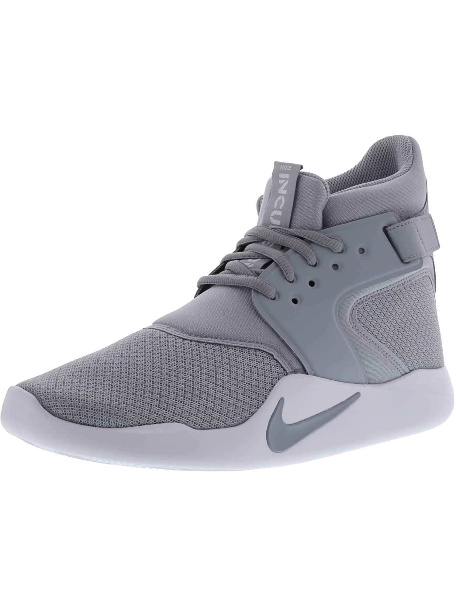 grey and white nike high tops