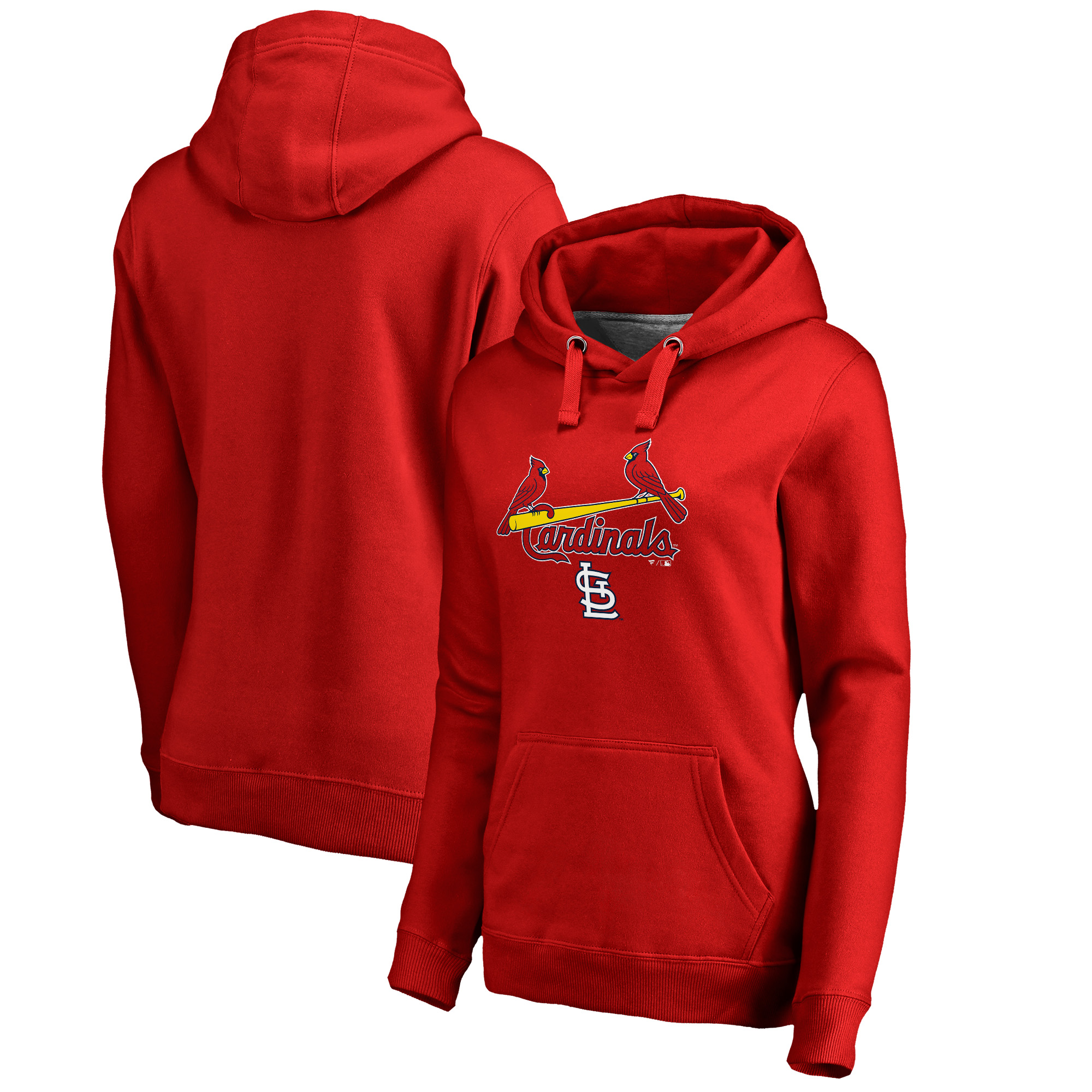 St. Louis Cardinals Fanatics Branded Women's Plus Size Team Lockup Pullover Hoodie - Red