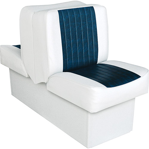 Wise 8WD707P-1-924 Deluxe Series Lounge Seat, White-Navy