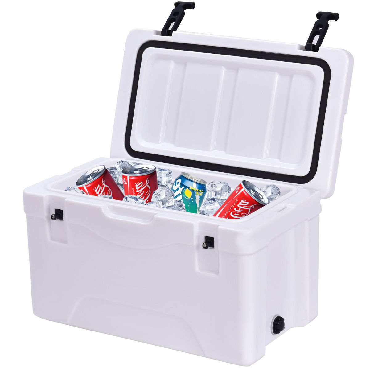 Costway Outdoor Insulated Fishing Hunting Cooler Ice Chest 30 Quart Sports Heavy Duty by Costway